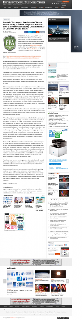 Dmitri Chavkerov - International Business Times- Paying Taxes and Saving