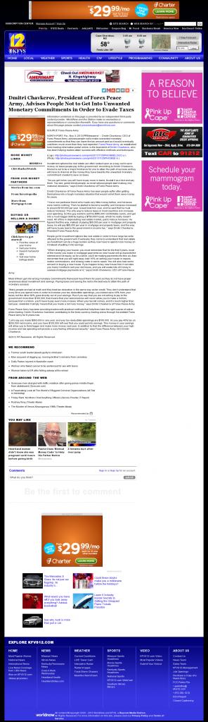 Dmitri Chavkerov - KFVS CBS-12 (Cape Girardeau, MO)- Paying Taxes and Saving