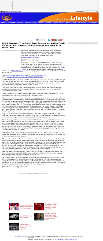 Dmitri Chavkerov - KSTC-TV IND-45 (Saint Paul, MN)- Paying Taxes and Saving