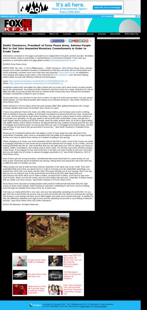 Dmitri Chavkerov - KTVG-TV FOX-17 / KSNB-TV FOX-4 (Kearney, NE)- Paying Taxes and Saving