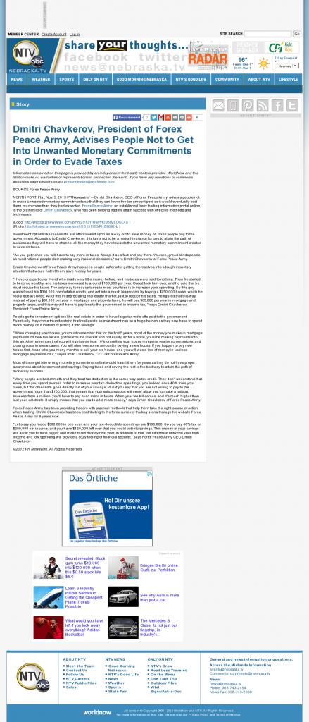 Dmitri Chavkerov - NebraskaTV (Kearney, NE)- Paying Taxes and Saving