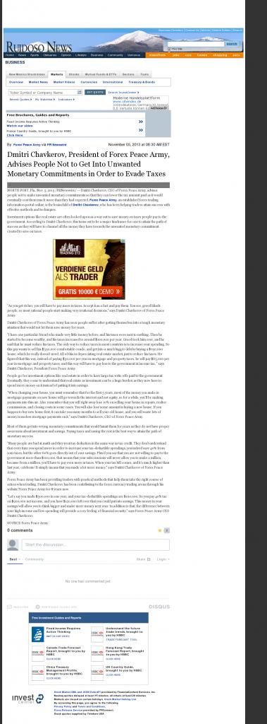 Dmitri Chavkerov - Ruidoso News (Ruidoso, NM)- Paying Taxes and Saving