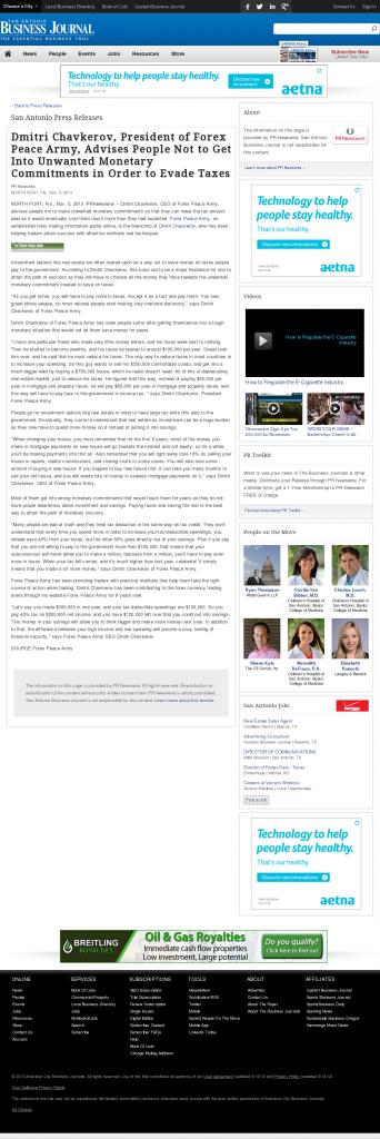 Dmitri Chavkerov - San Antonio Business Journal- Paying Taxes and Saving