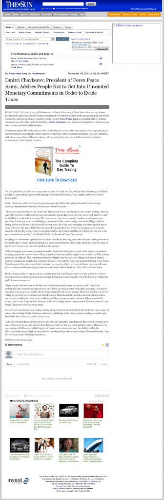 Dmitri Chavkerov - San Bernardino County Sun (San Bernardino, CA)- Paying Taxes and Saving