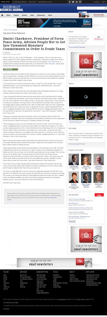 Dmitri Chavkerov - San Jose Business Journal- Paying Taxes and Saving