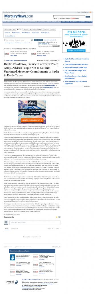 Dmitri Chavkerov - San Jose Mercury News- Paying Taxes and Saving