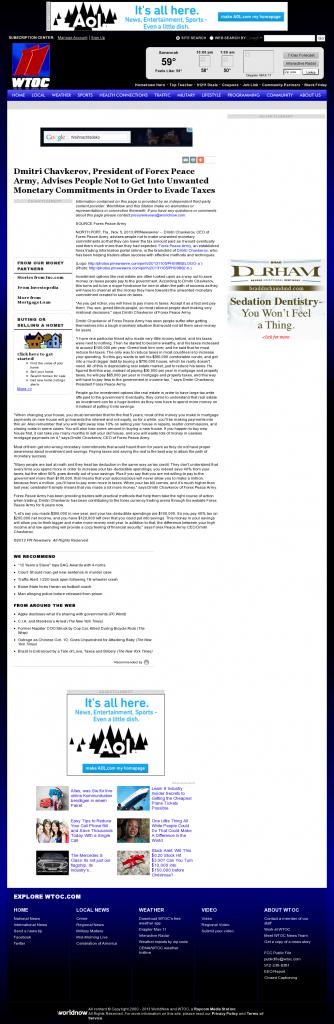 Dmitri Chavkerov - WTOC CBS-11 (Savannah, GA)- Paying Taxes and Saving