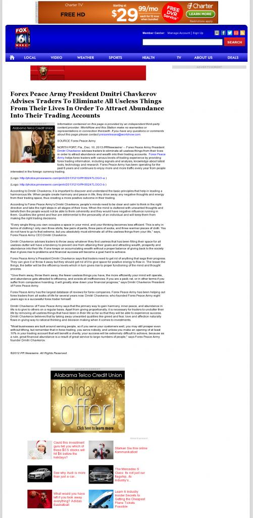 Forex Peace Army - WBRC-TV FOX-6 MyFox Birmingham (Birmingham, AL)- Attracting Wealth