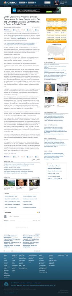 Dmitri Chavkerov   CNBC Story on Wrong Monetary Commitments