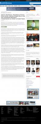 Dmitri Chavkerov -  Birmingham Business Journal - Paying Taxes and Saving