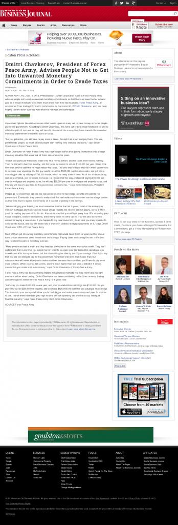 Dmitri Chavkerov - Boston Business Journal- Paying Taxes and Saving