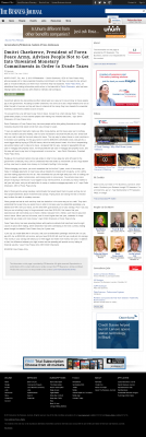Dmitri Chavkerov -  Business Journal of the Greater Triad Area - Paying Taxes and Saving