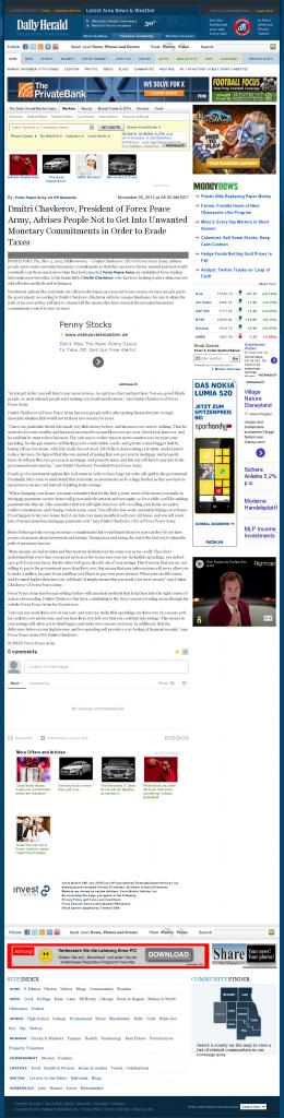Dmitri Chavkerov - Daily Herald- Paying Taxes and Saving