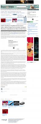 Dmitri Chavkerov -  Farmington Daily Times (Farmington, NM) - Paying Taxes and Saving