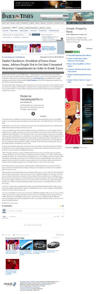 Dmitri Chavkerov - Farmington Daily Times (Farmington, NM)- Paying Taxes and Saving