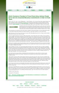 Dmitri Chavkerov -  Gold Alliance Group - Paying Taxes and Saving