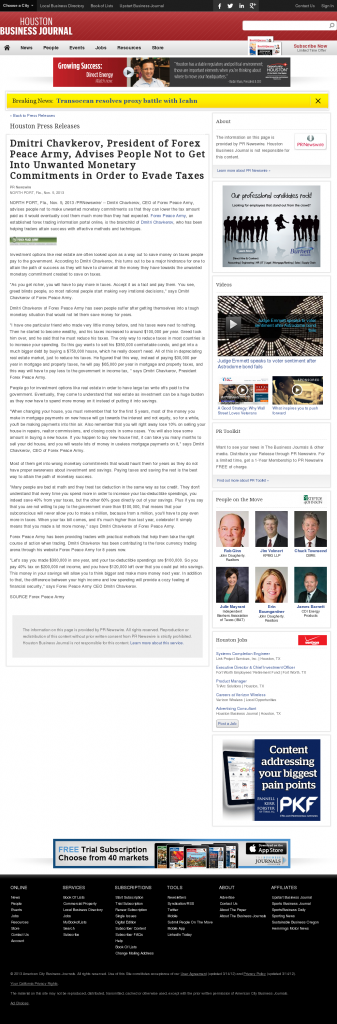 Dmitri Chavkerov - Houston Business Journal- Paying Taxes and Saving