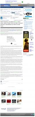 Dmitri Chavkerov -  Inside Bay Area - Paying Taxes and Saving
