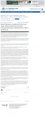 Dmitri Chavkerov -  Island Packet (Bluffton, SC) - Paying Taxes and Saving