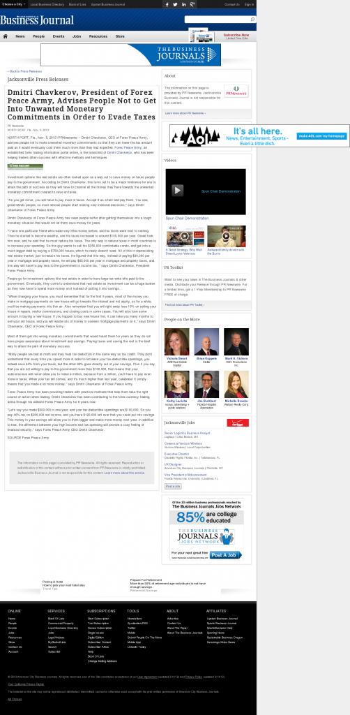 Dmitri Chavkerov - Jacksonville Business Journal- Paying Taxes and Saving