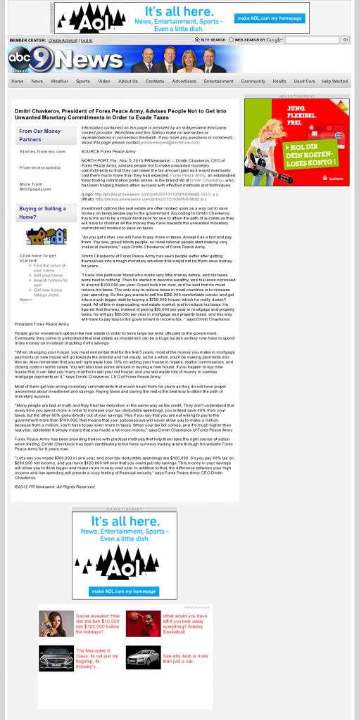 Dmitri Chavkerov - KCAU ABC-9 (Sioux City, IA)- Paying Taxes and Saving