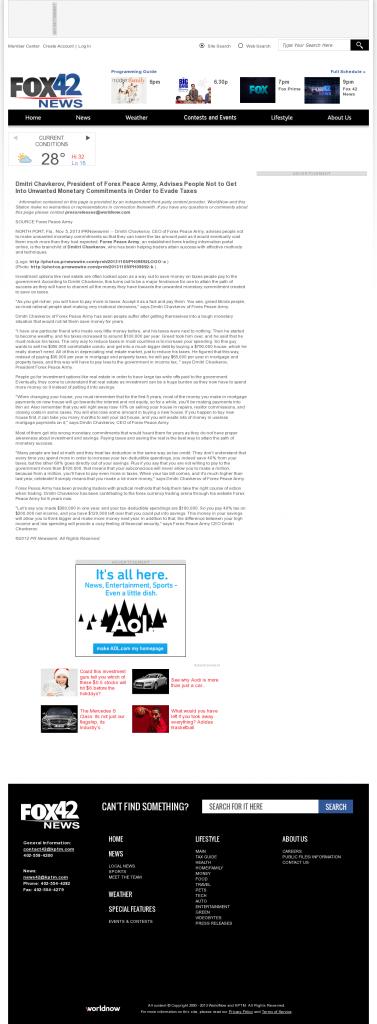 Dmitri Chavkerov - KPTM-TV FOX-42 (Omaha, NE)- Paying Taxes and Saving