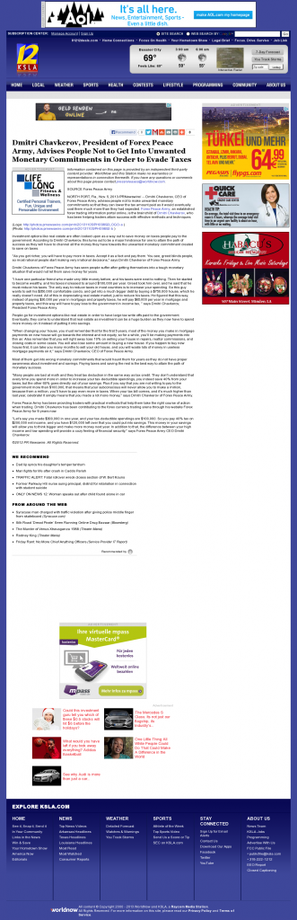 Dmitri Chavkerov - KSLA CBS-12 (Shreveport, LA)- Paying Taxes and Saving