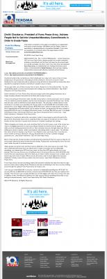 Dmitri Chavkerov -  KTEN NBC-10 (Denison, TX) - Paying Taxes and Saving
