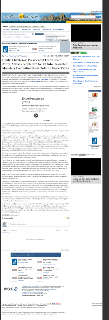 Dmitri Chavkerov - Las Cruces Sun-News- Paying Taxes and Saving