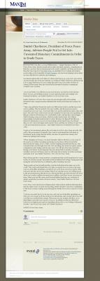 Dmitri Chavkerov -  Maxim Group - Paying Taxes and Saving