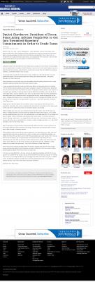 Dmitri Chavkerov -  Nashville Business Journal - Paying Taxes and Saving
