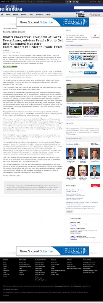 Dmitri Chavkerov - Nashville Business Journal- Paying Taxes and Saving