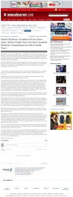 Dmitri Chavkerov -  News & Observer (Raleigh, NC) - Paying Taxes and Saving