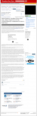 Dmitri Chavkerov -  Pasadena Star-News (Pasadena, CA) - Paying Taxes and Saving