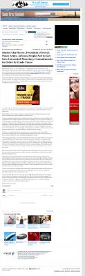 Dmitri Chavkerov -  Santa Cruz Sentinel (Santa Cruz, CA) - Paying Taxes and Saving