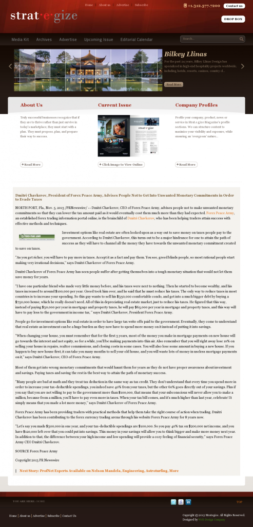 Dmitri Chavkerov - Strategize Magazine- Paying Taxes and Saving