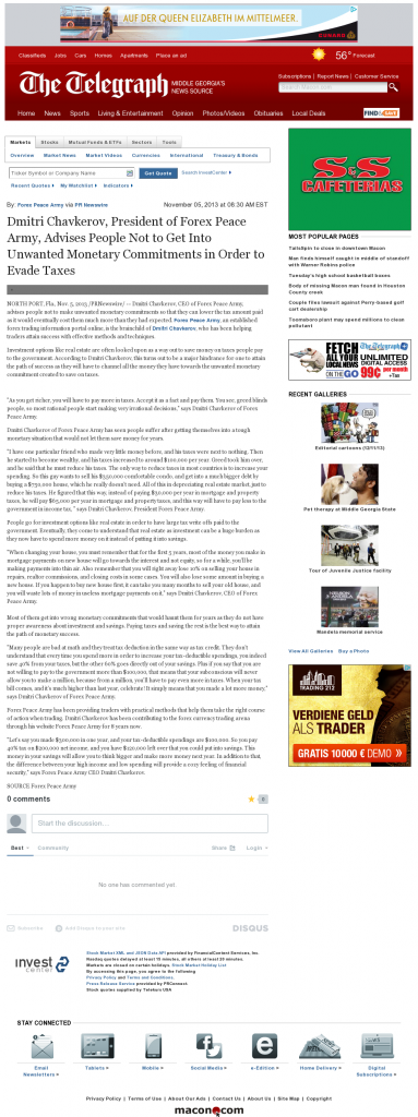 Dmitri Chavkerov - Telegraph-Macon (Macon, GA)- Paying Taxes and Saving
