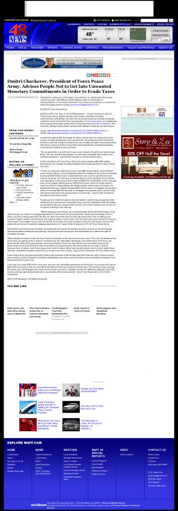 Dmitri Chavkerov - WAFF NBC-48 (Huntsville, AL)- Paying Taxes and Saving