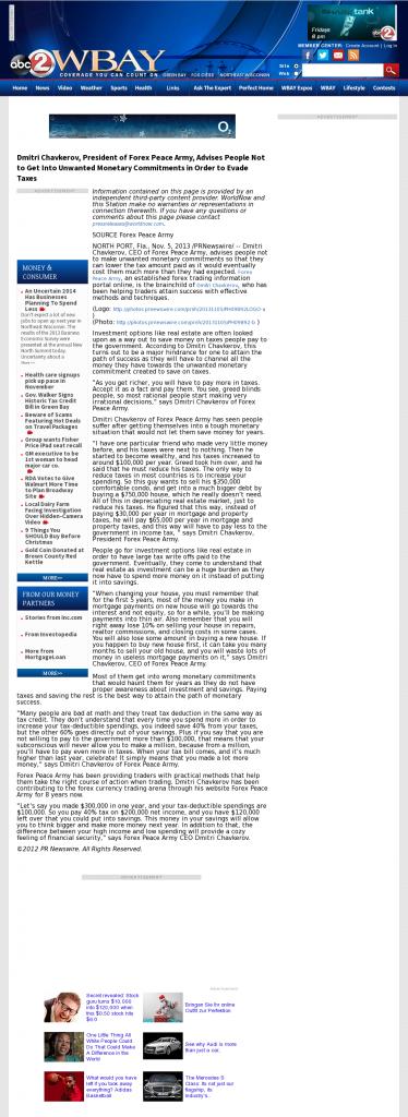 Dmitri Chavkerov - WBAY ABC-2 (Green Bay, WI)- Paying Taxes and Saving