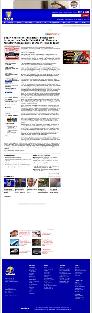 Dmitri Chavkerov - WDAM NBC-7 (Hattiesburg-Laurel, MS)- Paying Taxes and Saving