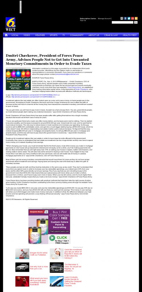 Dmitri Chavkerov - WECT NBC-6 (Wilmington, NC)- Paying Taxes and Saving