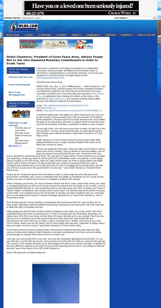 Dmitri Chavkerov - WLNS CBS-6 (Lansing, MI)- Paying Taxes and Saving