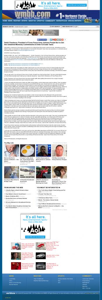 Dmitri Chavkerov - WMBB-TV ABC-13 (Panama City, FL)- Paying Taxes and Saving