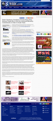 Dmitri Chavkerov -  WRIC ABC-8 (Richmond, VA) - Paying Taxes and Saving