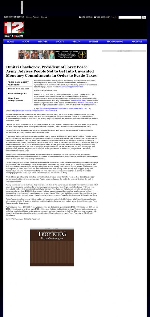 Dmitri Chavkerov - WSFA NBC-12 (Montgomery, AL)- Paying Taxes and Saving