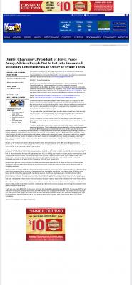 Dmitri Chavkerov -  WTNZ FOX-43 (Knoxville, TN) - Paying Taxes and Saving