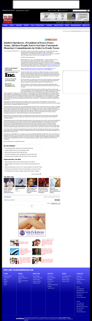 Dmitri Chavkerov - WTOL CBS-11 (Toledo, OH)- Paying Taxes and Saving