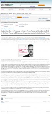 Dmitri Chavkerov -  Wall Street Select - Paying Taxes and Saving