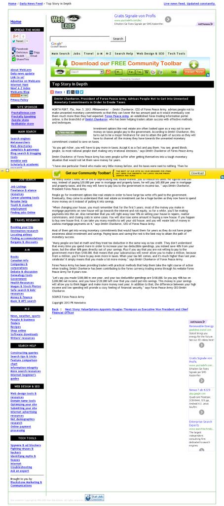 Dmitri Chavkerov - Web Lens- Paying Taxes and Saving