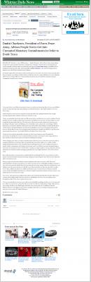 Dmitri Chavkerov -  Whittier Daily News (Whittier, CA) - Paying Taxes and Saving